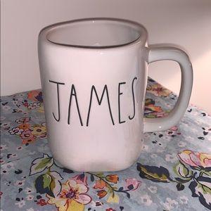 """Rae Dunn """"JAMES"""" Coffee mug"""